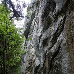 Via Ferrata du Lavanchy, Plan sur Bex